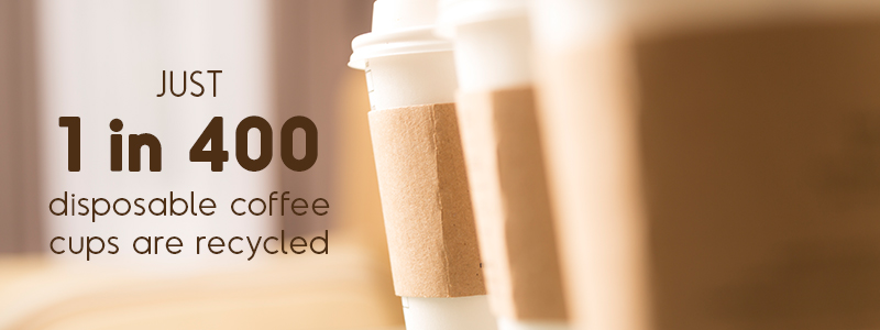coffee and the environment - just 1 in 400 disposable coffee cups are recycled